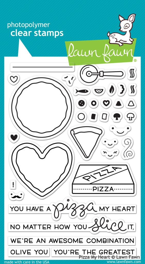 Lawn Fawn - Clear Acrylic Stamps - Pizza My Heart at Scrapbook.com