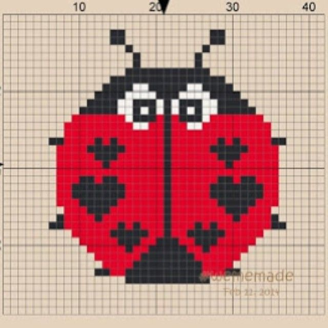 Ladybird Love Bug perler bead pattern by wememade