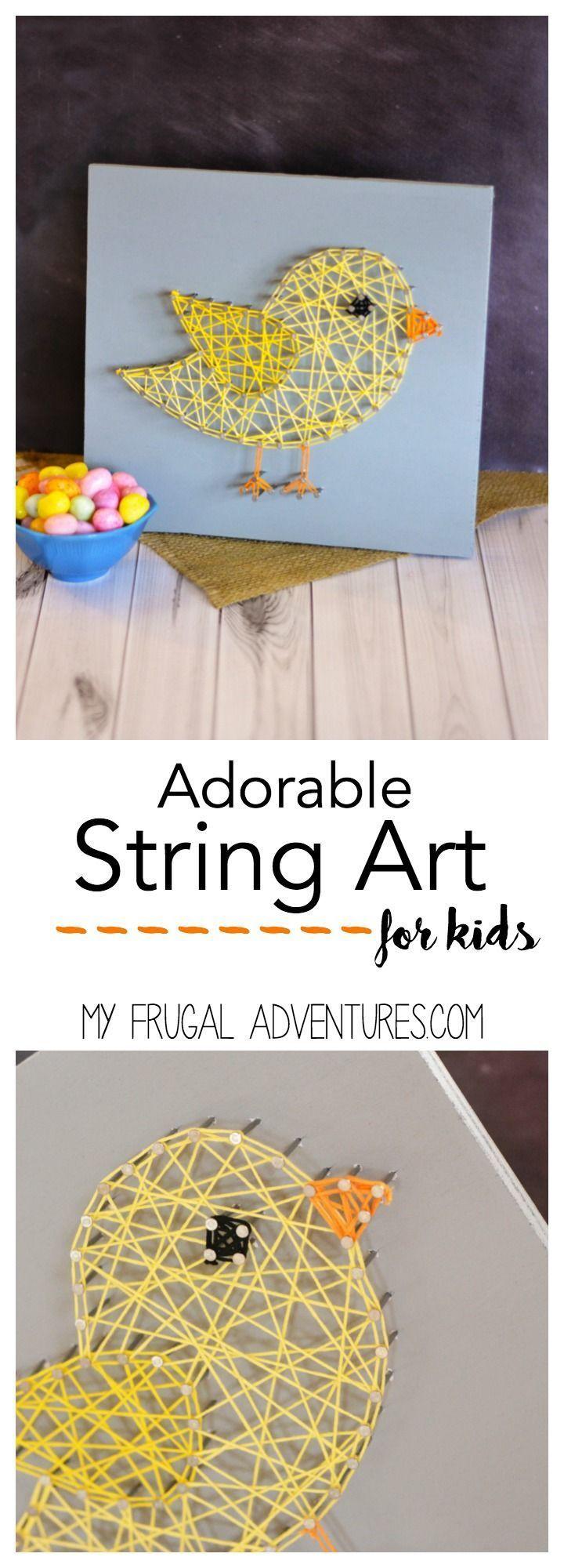 Child craft light table - Chick String Art Children S Craft Idea