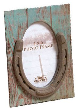 Horseshoe 4 X 6 Table Top Picture Frame | ChickSaddlery.com-SR