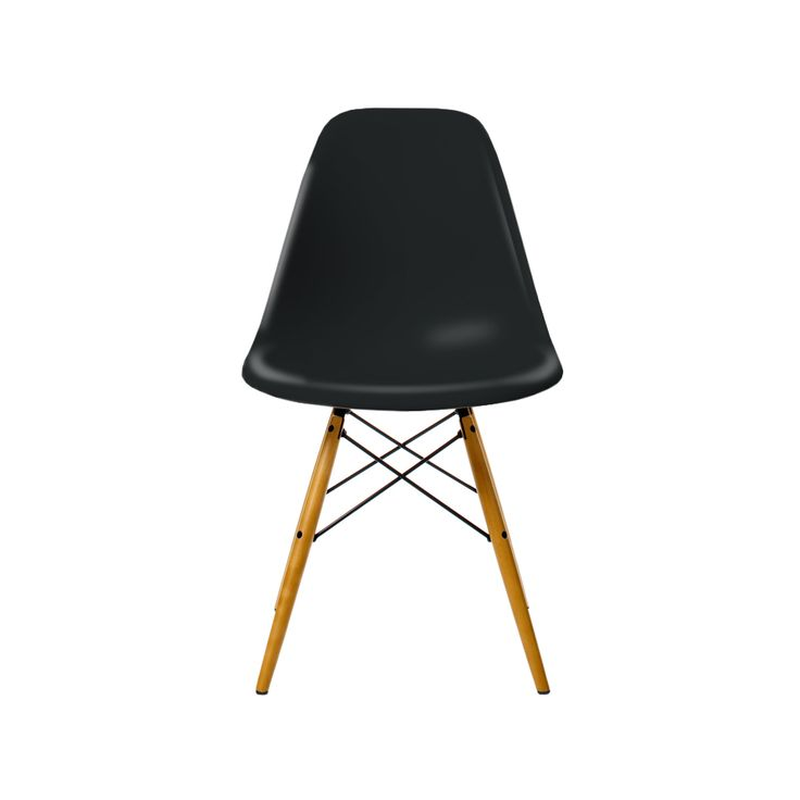 Eames Plastic Side Chair DSW stol, lönnben - Eames Plastic Side Chair DSW stol, lönnben - basic dark, 43 cm