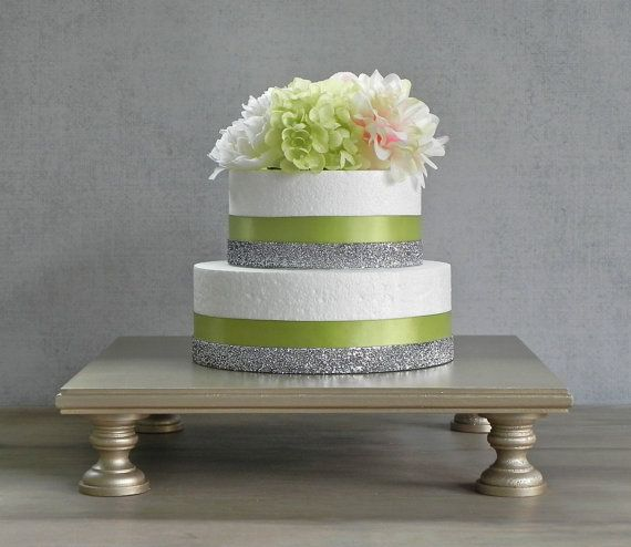 18 Wedding Cake Stand Champagne Square Cupcake by EIsabellaDesigns