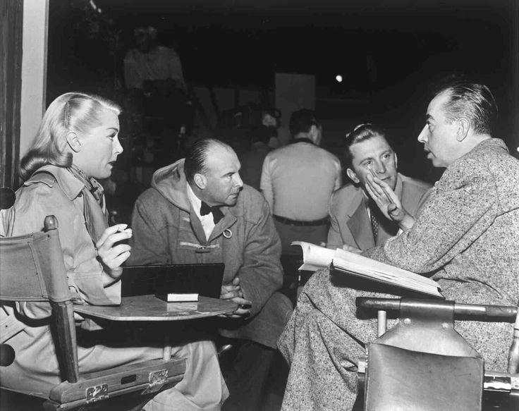 Lana Turner John Houseman Kirk Douglas Vincente Minnelli on the set of The Bad and The Beautiful.