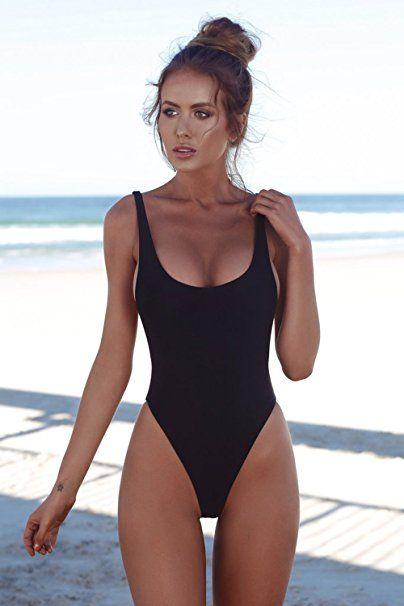 Aitos Sexy Bikini Badeanzug Damen Einteiler Bademode Triangle Schlankheits  Strandmode Figurformend Rückenfrei U-Back Sommer  Der Badeanzug ist der  Klassiker ... 2708960d9
