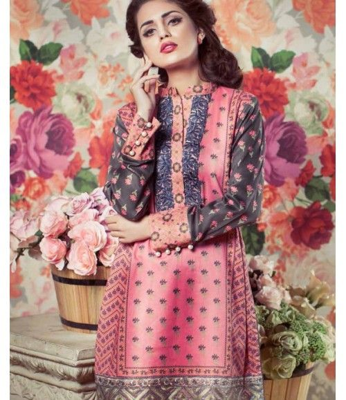 Feminine Embroidered Lawn Collection 2016 FEM_02B