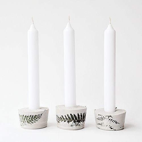 Kerzenständer aus Gips