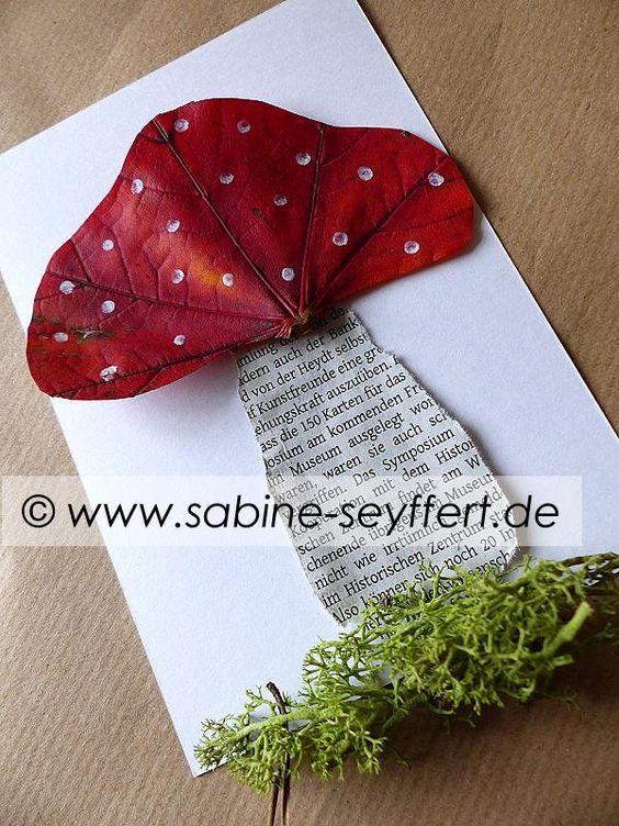 """Basteln mit """"Blättern""""… der Herbst kommt :-)"""