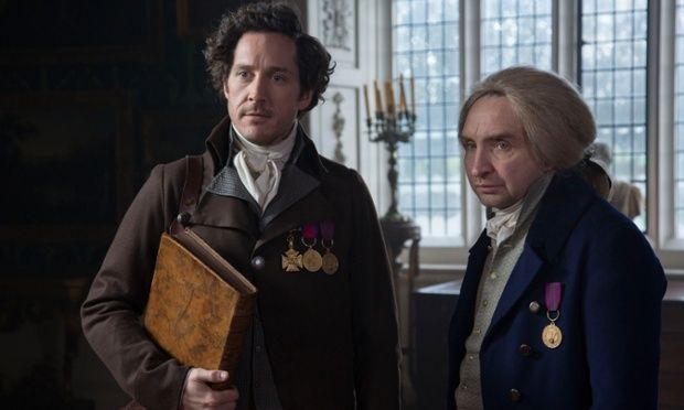 Strange (Bertie Carvel) and Norrell (Eddie Marsan) are summoned to help King George