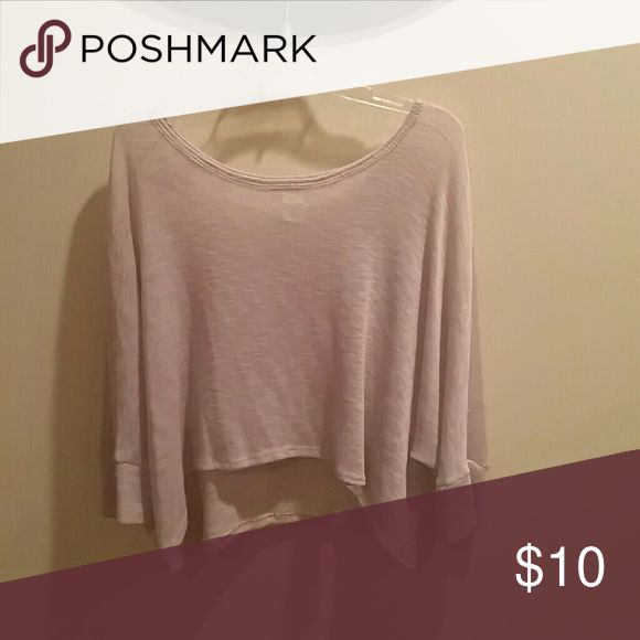 Body Central Crop Sweater Tan Sweaters