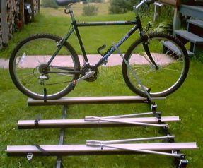 diy pop up camper bike rack