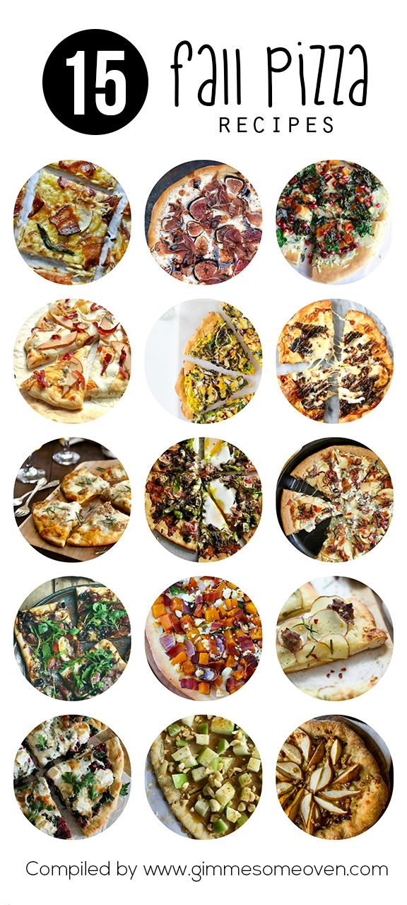 15 Fall Pizza Recipes -- a delicious collection of fall favorites from food bloggers | gimmesomeoven.com