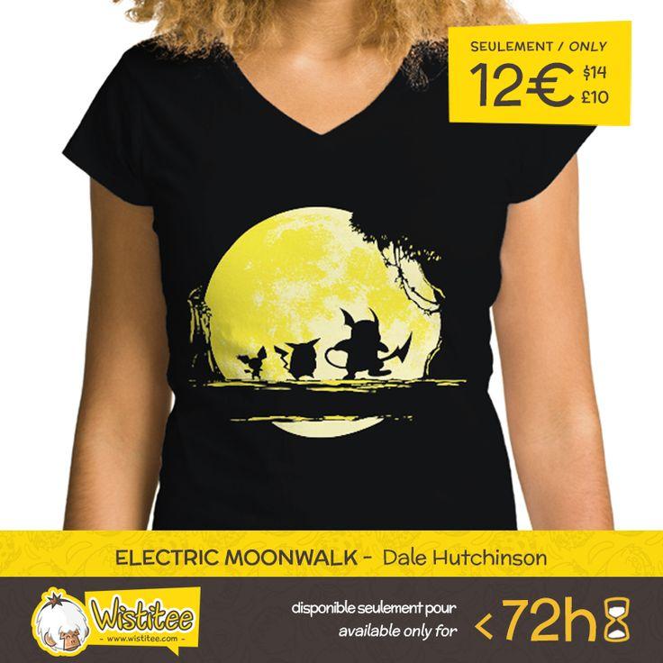 """(EN) """"Electric Moonwalk"""" designed by the astounding Dale Hutchinson is our NEW T-SHIRT. Available 72 hours, order yours today for only 12€/$14/£10 on WWW.WISTITEE.COM     (FR) """"Electric Moonwalk"""" créé par l'incroyable Dale Hutchinson est notre NOUVEAU T-SHIRT. Disponible 72 heures, réservez-le dès maintenant pour seulement 12€ sur WWW.WISTITEE.COM     #Pikachu #Raichu #Pichu #Pokemon #electric #moon #lune #moonwalk #HakunaMatata #LeRoiLion #TheLionKing #Simba #Timon #Pumbaa #PokemonGo"""