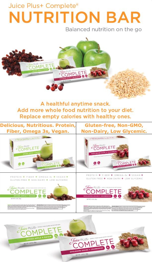Juice Plus Complete bars for on the go nutrition!   To find out more about the amazing range of Juice Plus products and business opportunities, contact me at SarahBaptiste1979@gmail.com or add me on Facebook www.facebook.com/sarah.baptiste.526