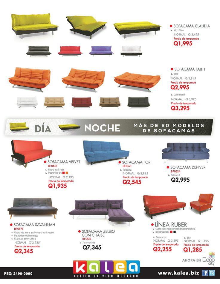 Sofá de día, cama de noche. ¡Tenemos más de 50 modelos de sofacamas!  En nuestro sitio web pueden ver más modelos: http://kalea.com.gt/nuestros-productos/sofas-y-sillones/sofacamas