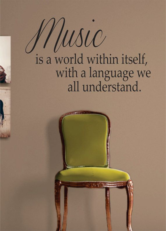 Music is a World Quote Decal Sticker Wall Vinyl Decor Art