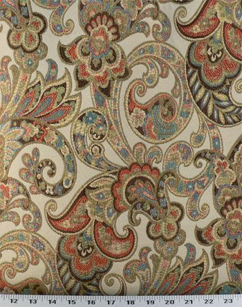 Grand Paisley Jewel | Online Discount Drapery Fabrics and Upholstery Fabric Superstore! Warehouse Fabrics