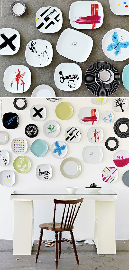 DiY Artistic Plates
