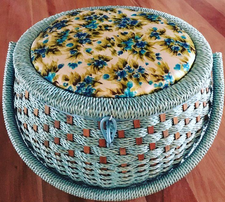 Vintage sewing basket.