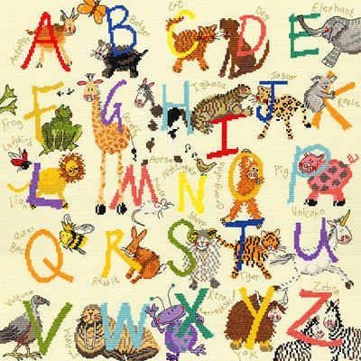 Animal Alphabet Sampler - Bothy Threads