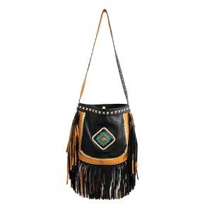 GYPSY SOUL BLACK LEATHER BAG