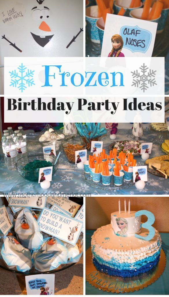 Disney Frozen Birthday Party For A 3 Year Old Birthdayparty Frozenbirthday Kidsbirthdayparty Partyideas