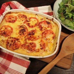 Ugnsbakad pasta med tomat och mozzarella - Mitt kök