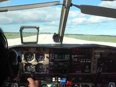 Student Pilot Landing Piper Seneca Of Harv's Air At St Andrews Airport M...