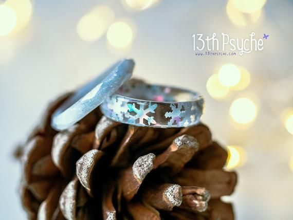 Winter Resin Jewelry set
