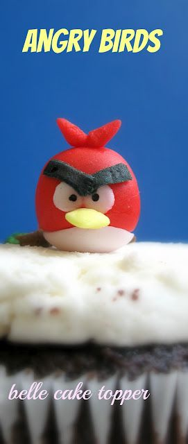diy tutorial angry birds cake topper