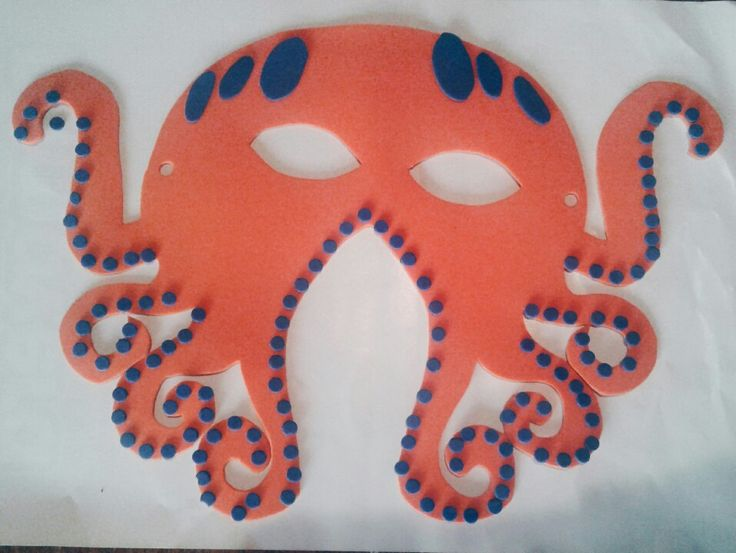 Octopus mask for kids