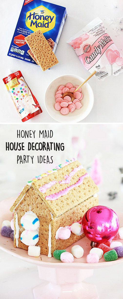 Dreams of sugar plums and gumdrops will fill your children's heads after making these delicious HONEY MAID Graham Cracker Houses. By setting up your annual holiday party with a station of festive sweets, colored icings, and flavored graham crackers, you have a fun and easy way to entertain the younger guests—but we don't blame you if the adults want to join in! Plus, you can head to Walmart to find everything you need for entertaining this Christmas season.
