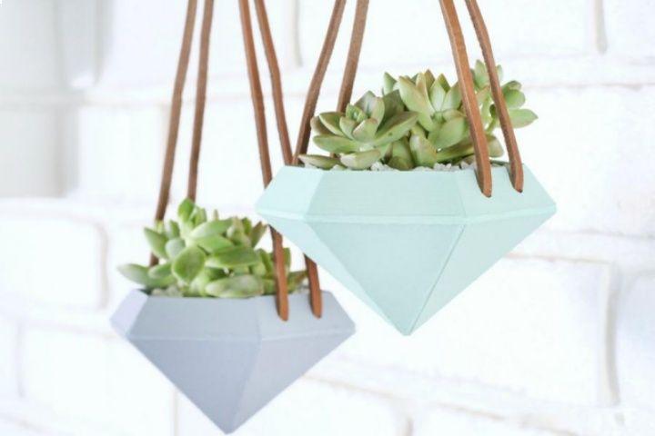 Как сделать подвесные горшки для цветов своими руками