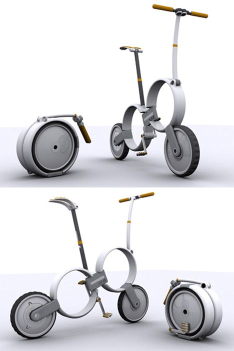 'One' – Folding Bicycle Concept by Thomas Owen productdesign bike concept