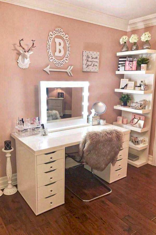 153 Best Makeup Vanities Cases For Stylish Bedroom 39 With Images Makeup Room Design Bedroom Vanity Stylish Bedroom