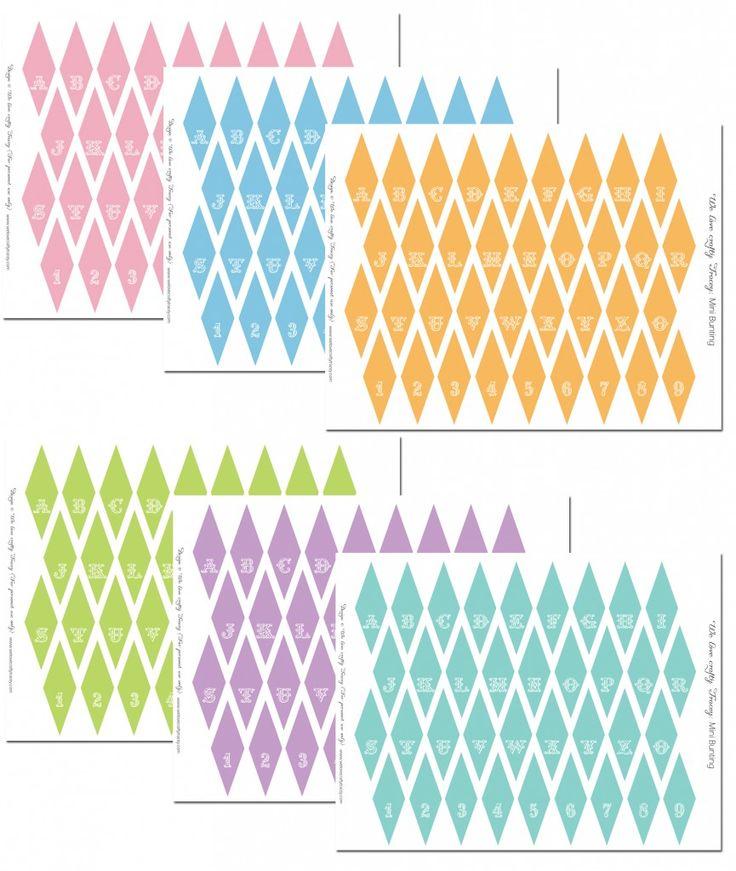 mini bunting free printables