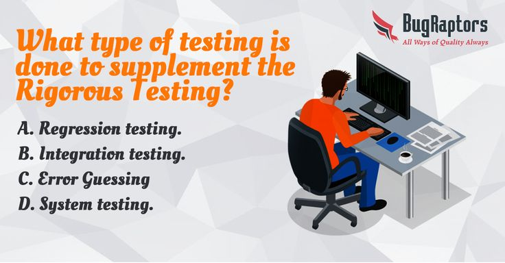 Quiz of the Week✍️  What type of testing is done to supplement the RIGOROUS TESTING?  A. Regression testing B. Integration testing C. Error Guessing D. System testing  Please mention your answer in comments.