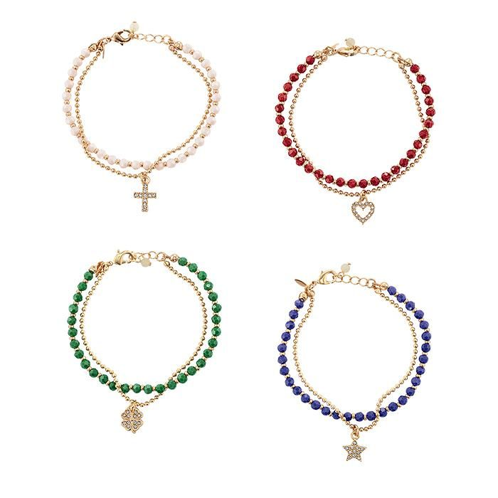 Colorful Beads And Goldtone Charms Make A Cool Combo These Gl Are More Than Just Beautiful They Re Meaningful Fea