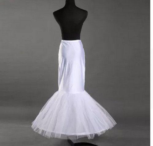 White circle mermaid fishtail wedding dress white wedding petticoat lining