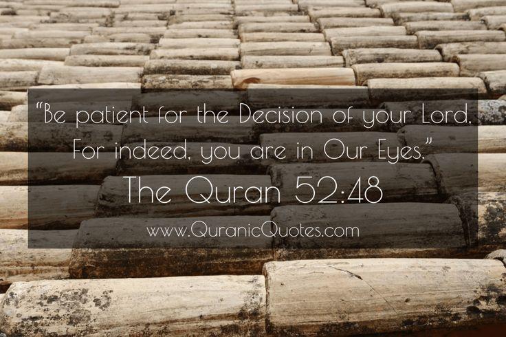 #159 The Quran 52:48 (Surah at-Tur)