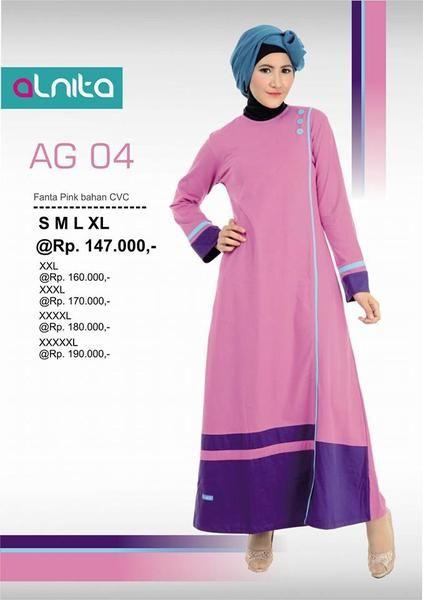 ALNITA AG-04 Fanta Pink  KODE:   AG-04 Fanta Pink  ALNITA GAMIS Kode:  ALNITA AG-04 Fanta Pink Warna :  Fanta Pink Bahan: Kaos CVC Size: S,M,L,XL Harga: Rp. 147.000  ALNITA adalah salah satu merk produk busana muslim kaos dengan harga yang sangat terjangkau. Bahan yang digunakan adalah kaos CVC sehingga sangat nyaman digunakan untuk kegiatan sehari-hari. Baju alnita didesain khusus untuk Anda para muslimah pecinta bahan kaos yang ingin tampil aktif dan dinamis setiap hari. Baju muslim…