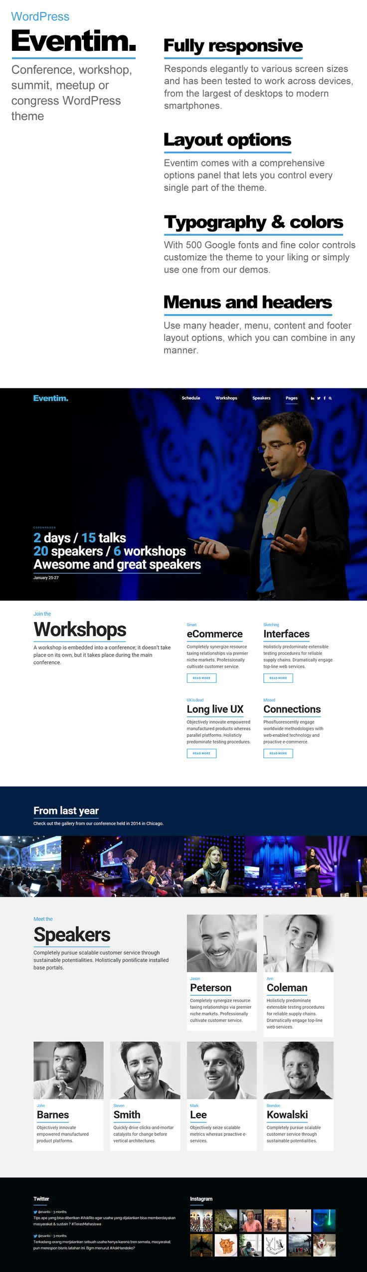 Eventim – Event,  Summit, Meetup, Workshop, Festival  & Conference Wordpress Theme