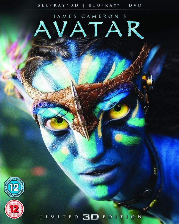 Avatar with Limited Edition Lenticular Artwork Blu-ray 3D + Blu-ray + DVD 2012…
