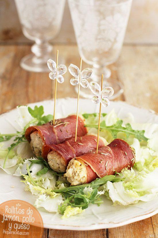 Los rollitos de pollo y queso con jamón serrano son una delicia. No os perdáis esta receta paso a paso para hacer rollitos de pollo y queso con jamón serrano.