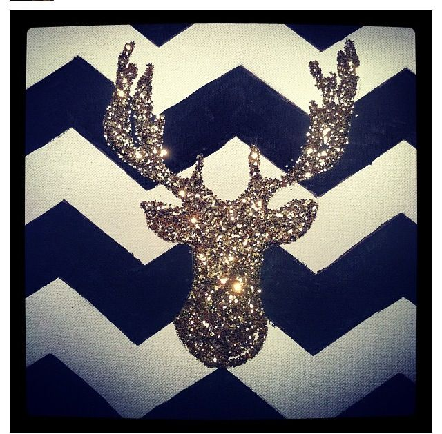 Deer canvas. So hipster. I love it and I'm not even a hipster.