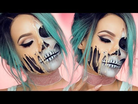 A Gruesome Halloween Makeup Tutorial That Makes It Look Like Your Face Melting Off of Your