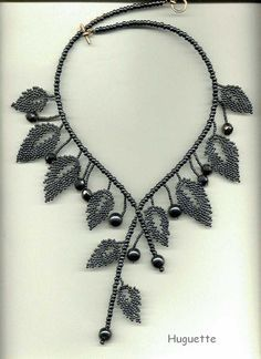 Schema for Russian Leaves - nice samples.  #Seed #Bead #Tutorials