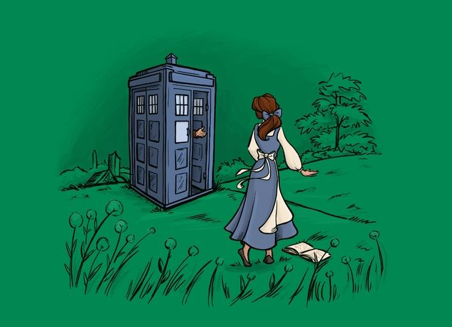 """Adventure Awaits"" - Love this Doctor Who / Beauty and the Beast mashup!"