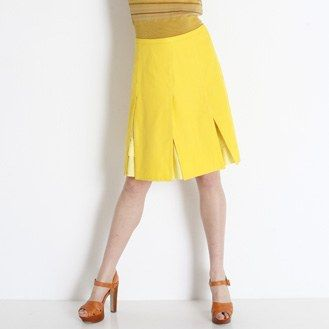 sheet seam skirt yellow sun - in French, free pattern.  Use google translate.