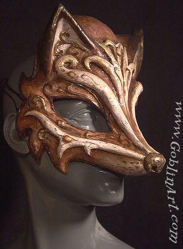 Fox mask by goblinart, via Flickr