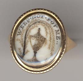 """""""Weep Not For Me"""" mourning ring   commemorating the passing of George Stabler on May 22, 1780 at age 52"""